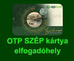 OTP Széchenyi Pihenőkártya elfogadóhely vagyunk