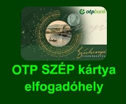 OTP SZÉP kártya elfogadó hely vagyunk :-)