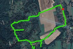 Szőlőhegyi Panoráma túra térképe, 4 km - könnyű terep